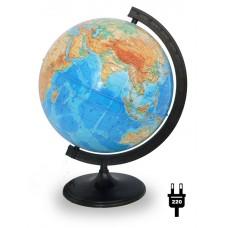 Глобус физический диаметром 320 мм с подсветкой