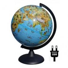 Глобус Зоогеографический диаметр 250 мм с подсветкой